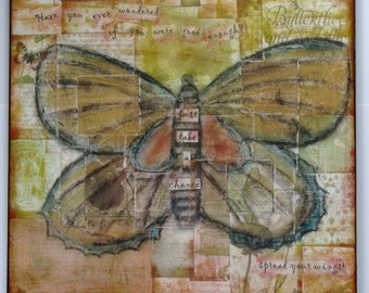 Spread Your Wings Mixed Media Plaque