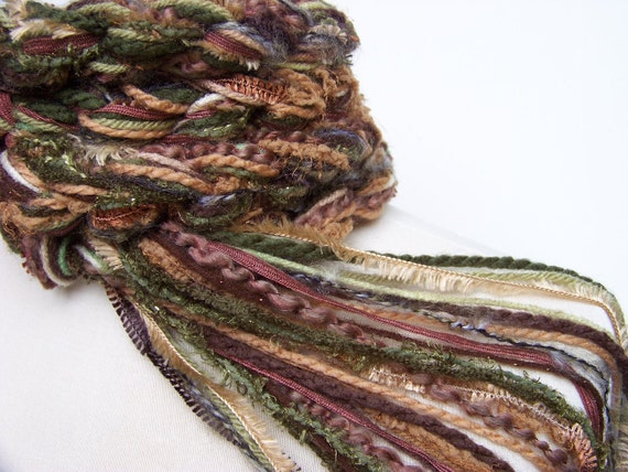 Crochet Scarf, CAMOUFLAGE Original Pippy Scarf, Hand Knit Scarf Women's Fashion Scarf