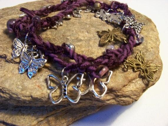 Bohemian Wrap Bracelet...Butterfly Bracelet