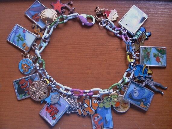 Disey'sFinding Nemo Altered Art Charm Bracelet