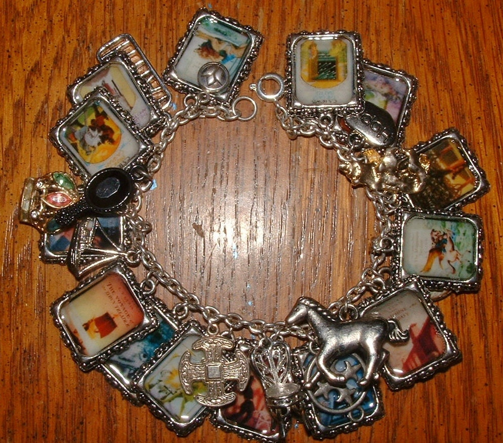 The chronicles of narnia book cover charm bracelet by rockshanks