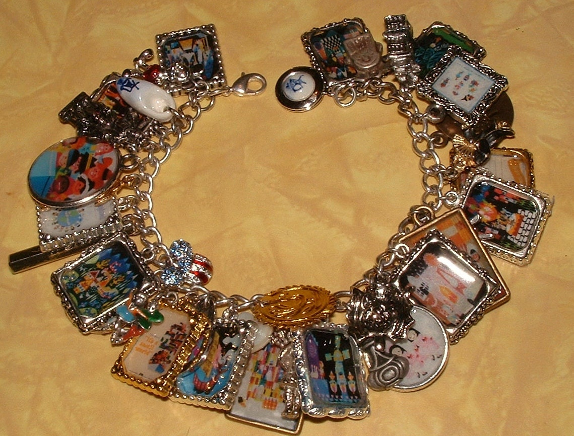 disneyland it s a small world altered charm bracelet