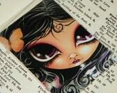 big eye fairy ACEO painting print ART by Megan