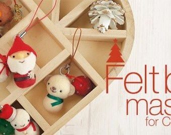 Felt Ball Mascot for Christmas - Japanese craft kit (3 designs to choose from)