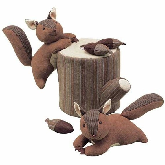 Best toy set ever. Discontinued Patchwork Squirrel Party - Japanese craft kit