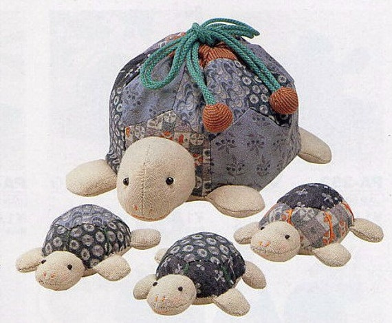 Ideal Playing Toy. Discontinused Turtle Patchwork Doll Family Japanese craft kit