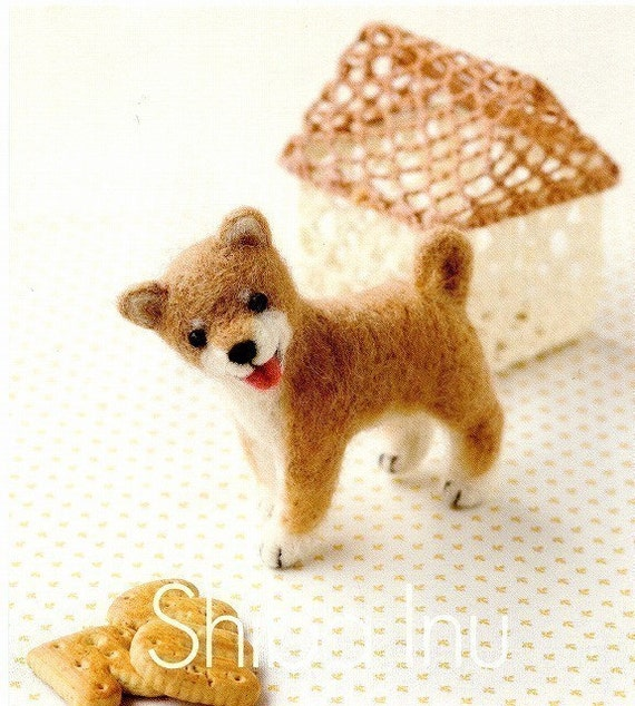 DIY handmade Japanese Felt Wool Dog Kit Package - 5 dogs to choose from