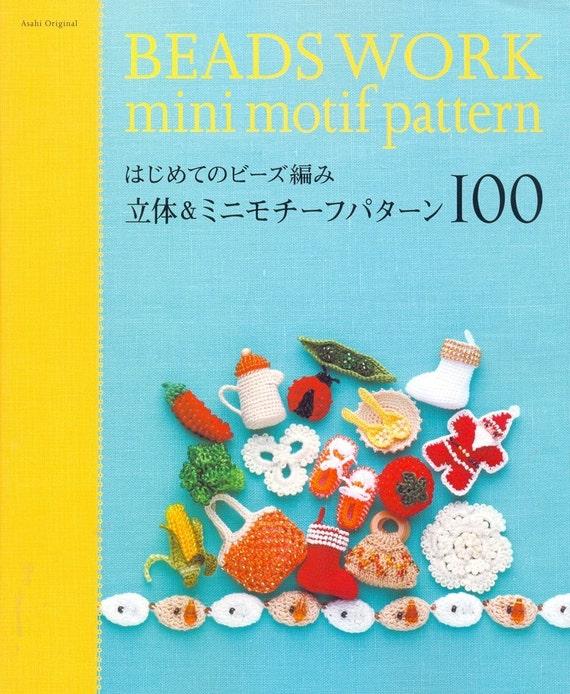 Beads Work Mini Motif Pattern 100 - Japanese craft book