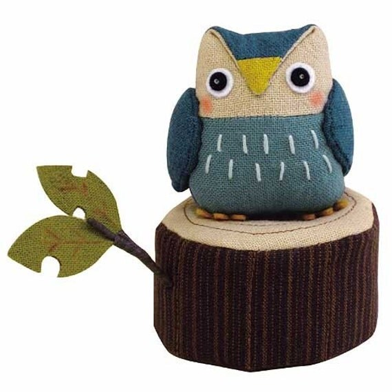 Cutest Stuffed Friends. Discontinued Owl and Tree Log - Japanese craft kit