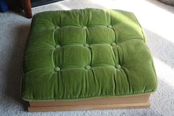 Vintage Retro Green Velvet Chair Cushionpillow