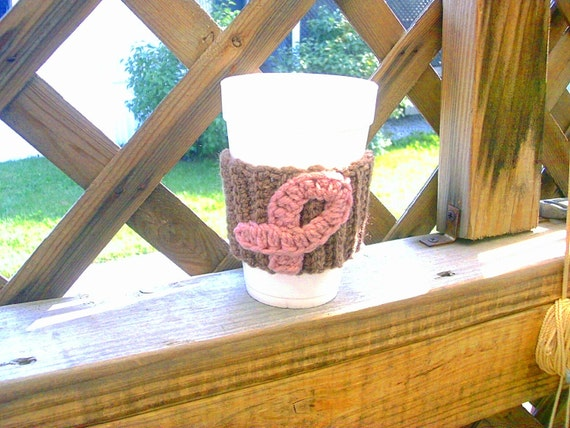 Milk Chocolate Breast Cancer Awareness Cup Cozy