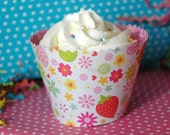 Cupcake Wrapper Tutorial and Pattern with Buttercream Frosting Recipe