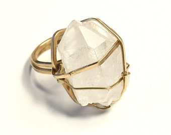 Quartz 'Solar Power' Ring