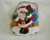Felted Santa Ornament