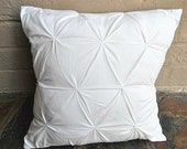 White pintucks - Throw pillow cover - 16 x 16 inch