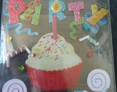 PARTY CUPCAKE Jolee's Boutique Scrapbooking Supplies stickers -Streamers, Noise makers