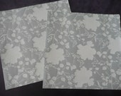 GREEN CHIC 12 x 12 Scrapbooking Paper by Stemma (4 sheets) with Glitter finish - Buy 5 sets get 1 FREE- Flowers