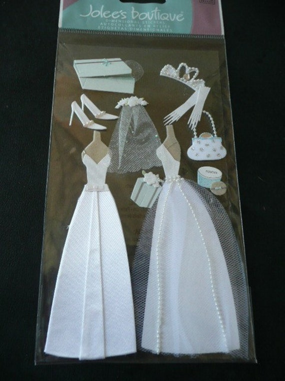 NEW Scrapbooking Jolees 3d Stickers WEDDING GOWN