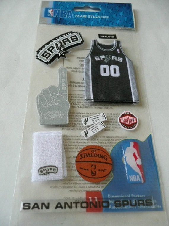 Official licensed Nba Team Stickers - SAN ANTONIO SPURS, Number 1 fan, Basketball, Boy, Texas Tickets