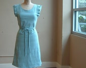 Dress robins Egg Blue and Grey heather cotton jersey
