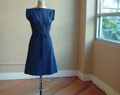 Triangle Dress in Navy Cotton Jersey