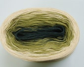 NATURAL GREEN V  Color Changing Cotton yarn  50 gr / 240 yds  Fingering Weight