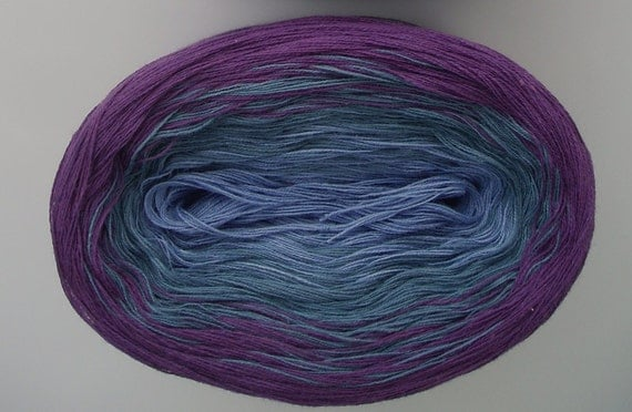 MORNING GLORY  Color Changing Cotton yarn  480 yds/100 gr  Fingering Weight