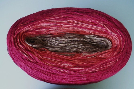 COCOA BERRY VI Color Changing Cotton yarn  480 yds/100gr  Fingering Weight