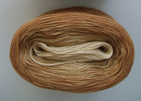 LATTE III  Color Changing Cotton yarn  480 yds/100 gr  Fingering Weight