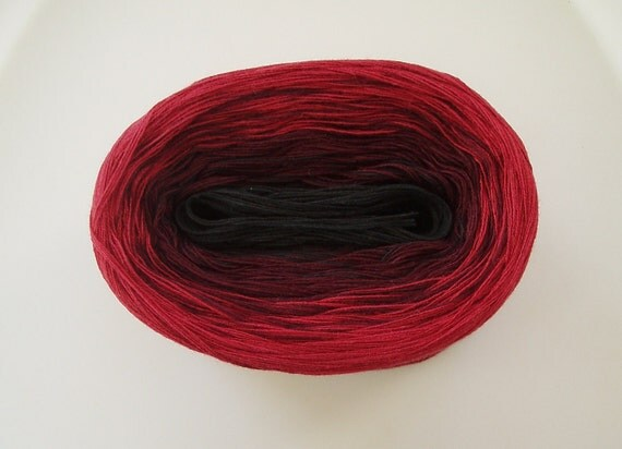 BLACK CHERRY IV  Color Changing Cotton yarn  480 yds/100 gr  Fingering Weight