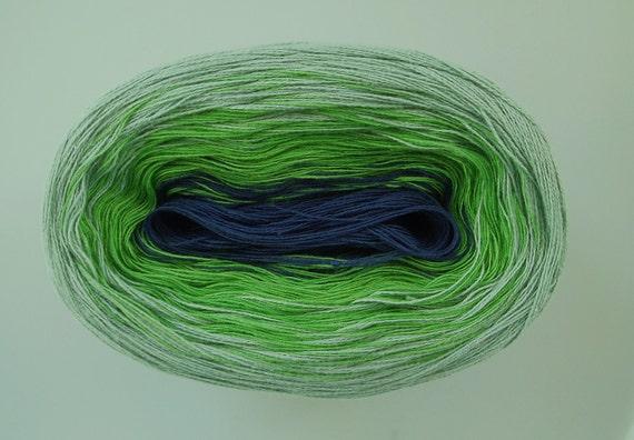 SUMMER WAVES VI  Color Changing Cotton yarn  480 yds/100 gr  Fingering Weight