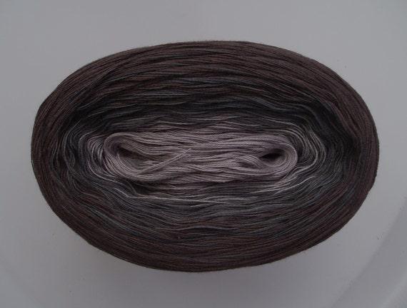 COAL III -Mega Skein- Color Changing Cotton yarn 865 yds/180 gr  Fingering Weight