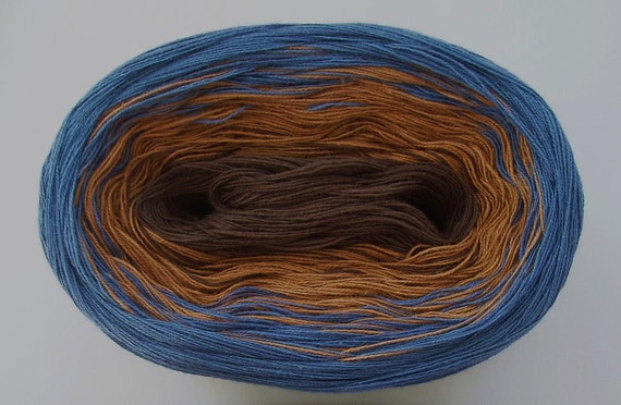 BLUE HONEY VI  Color Changing Cotton yarn  100 gr/480 yds  Fingering Weight