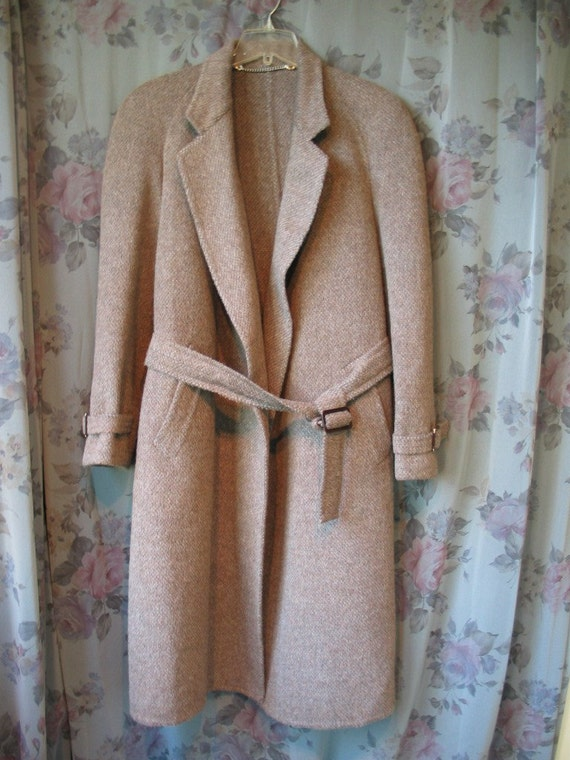 Rsvd for T thru 7- 9 Vintage Authentic GUCCI Alpaca Wool Blend Wrap Coat Men Women