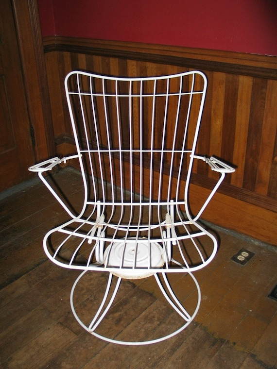 vintage 3 metal wire patio set furniture 2 swivel
