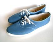 vintage canvas shoes 8.5  // 1980s deadstock vintage sneakers