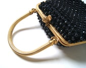 1950s purse // vintage beaded handbag