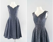 1950s party dress // 40s to early 50s new look dress