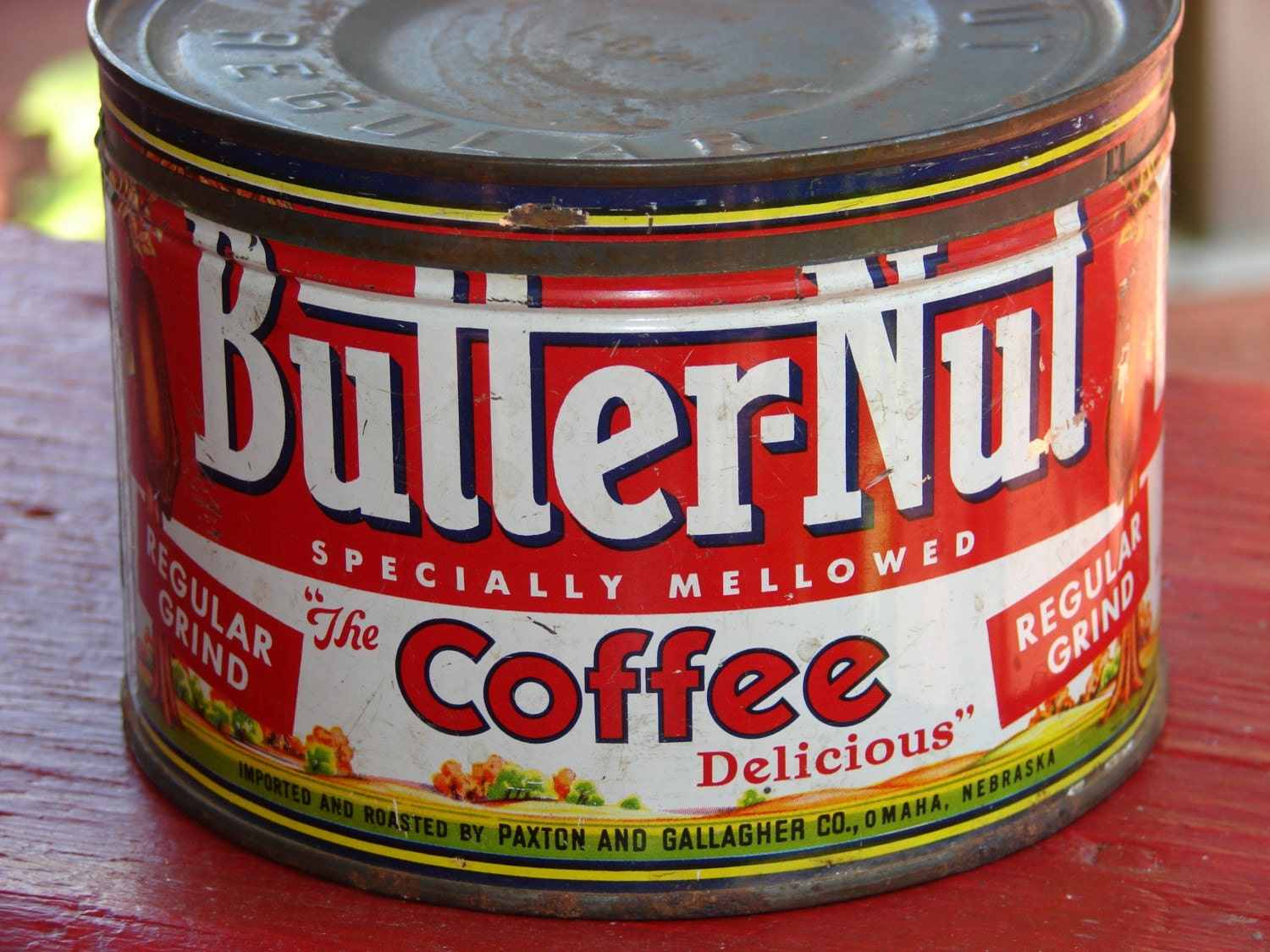Vintage butter nut coffee can by mechaniconduty on etsy - What are coffee cans made of ...