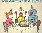Robot BIRTHDAY Cards - BDAY