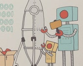 Robot FATHER'S DAY Card - PAPA