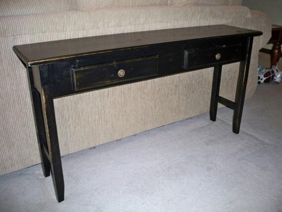 Reserved Listing AmyYork Primitive Sofa Table Hall Table