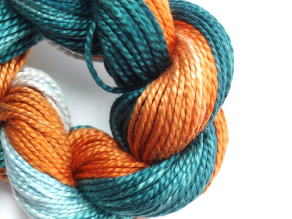 Forest Green Copper Hand Dyed Perle Cotton Size 5