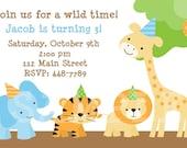 Jungle Party Birthday Invitation