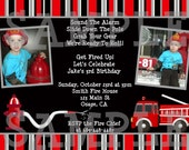 Fire Truck Custom Party Printables