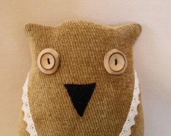 Brown Corduroy Owl Doll