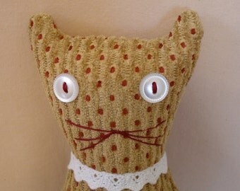 Red Polka Dot Cat Doll