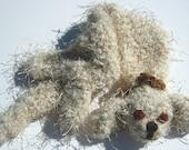 Crochet Scarf Toy Puppy Neck Nuzzler Beige Kids Children Winter Spring Summer Fall Autumn Fashion