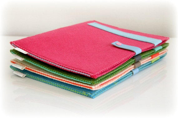 Tablet Ipad sleeve -ONE- 002 Pink and blue
