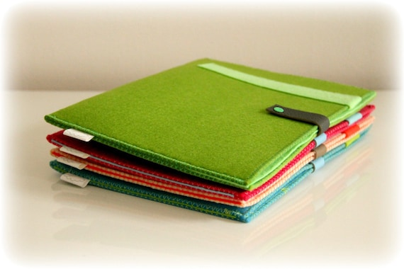 Tablet Ipad sleeve -ONE- 001 Green and turquoise